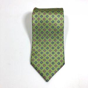 Luigi Borrelli Napoli Silk Geo Floral Neck Tie